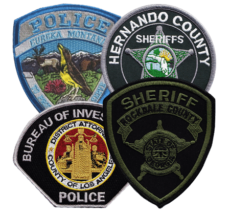 police department patches - Custom Patches Home