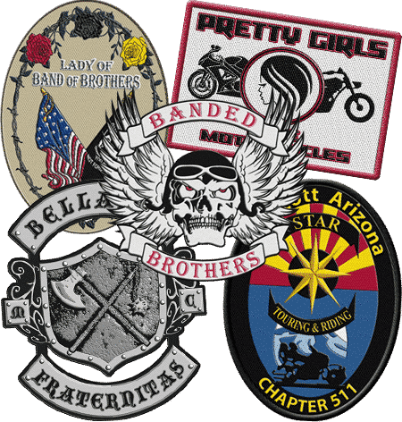biker patches - Embroidered Custom Patches Home