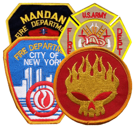 fire department patches - Embroidered Custom Patches Home